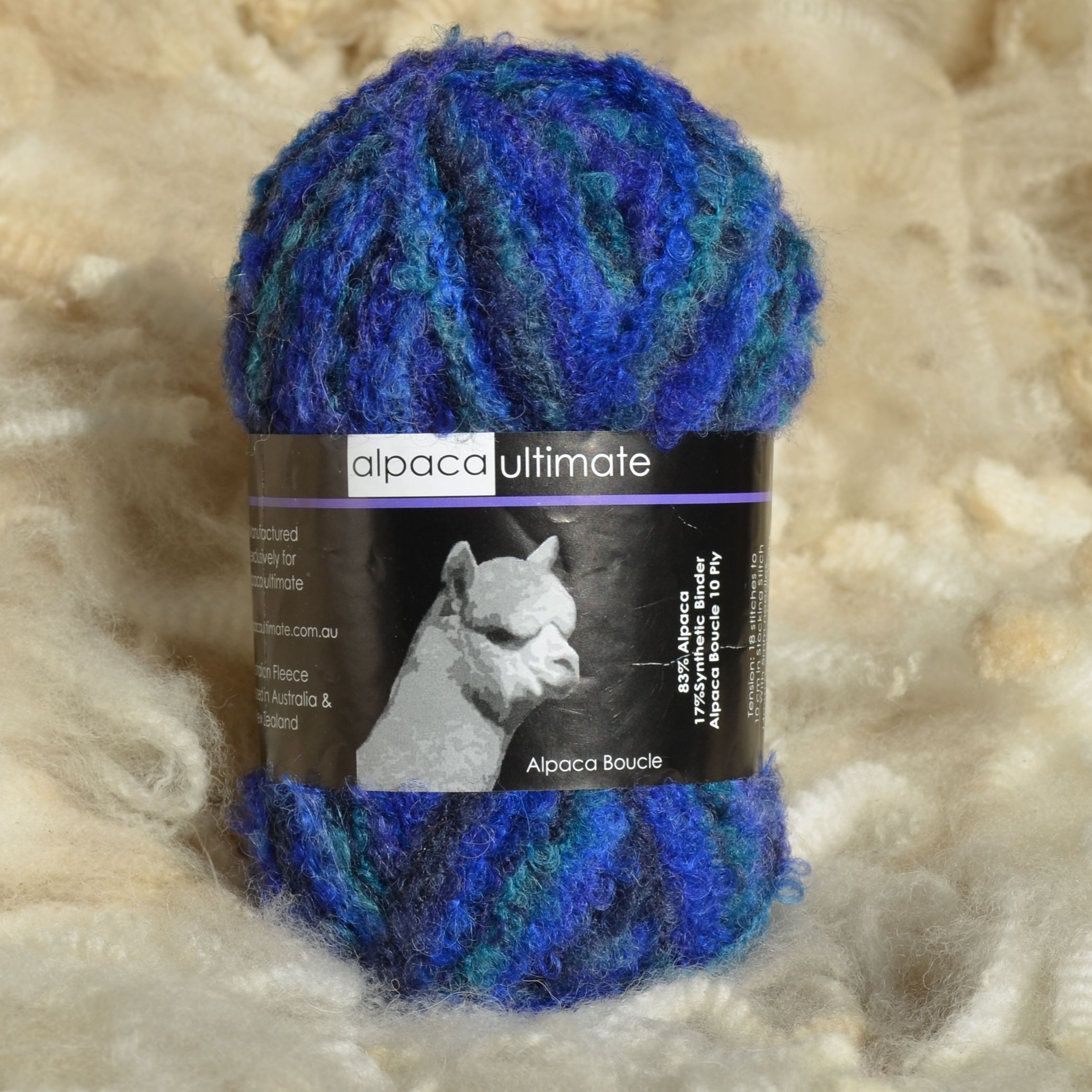 Alpaca Ultimate 10 Ply Boucle Yarn Blue Mist 83/% Alpaca 17/% Synthetic Binder